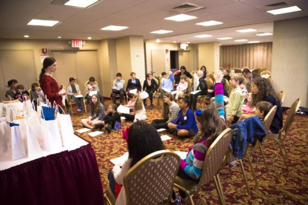 Rebecca teaching about secular high holidays during rosh hashanah