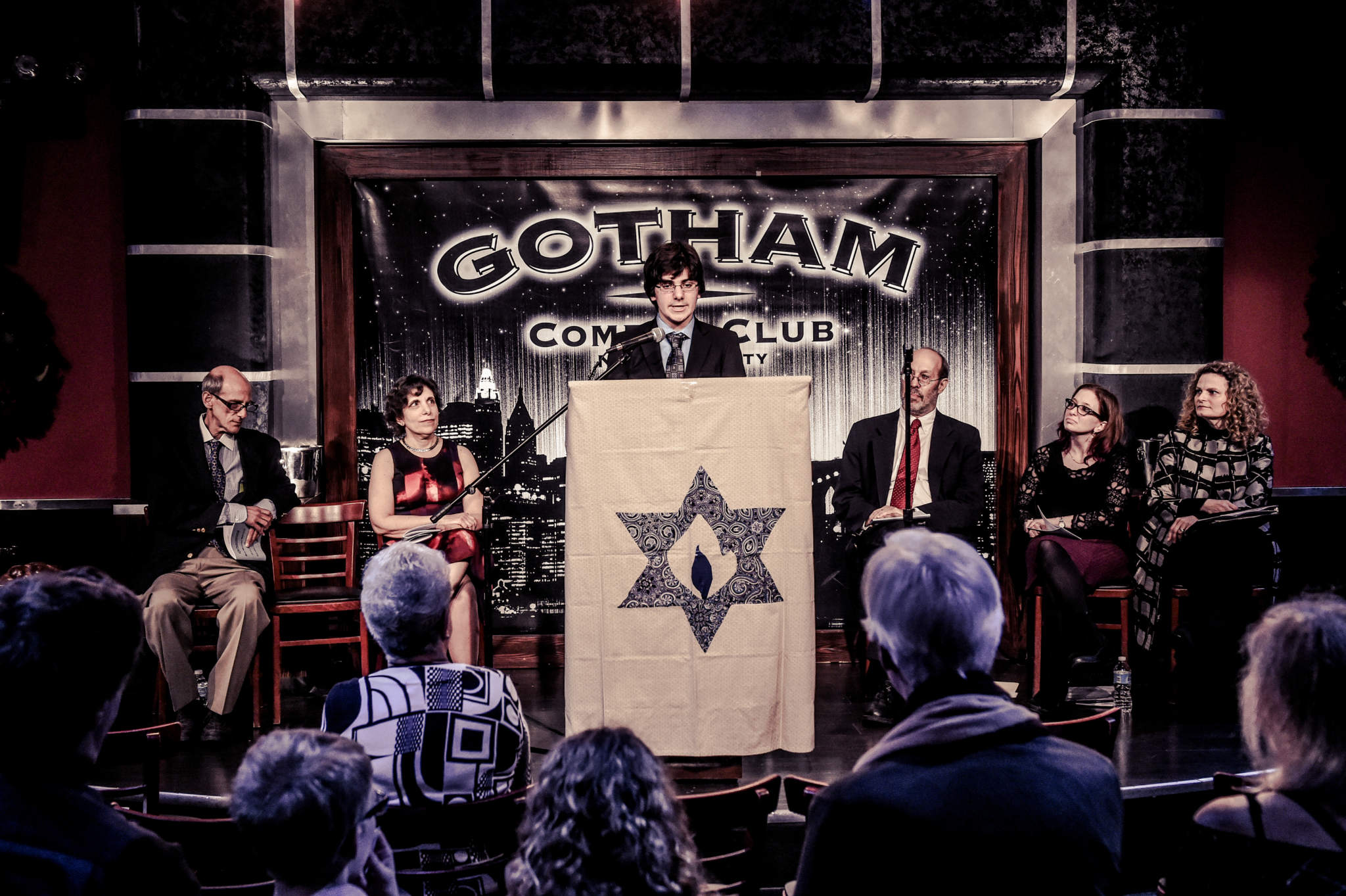 bar mitzvah boy gives speech on a jewish topic of his choice