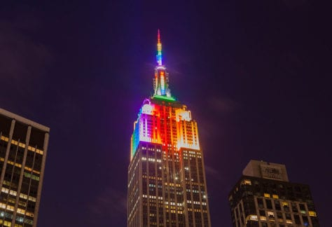 Empire State Building in Rainbow Colors for Gay Pride 2015, creative commons licensed (BY 2.0) by Anthony Quintano https://www.flickr.com/photos/22882274@N04/18643933613