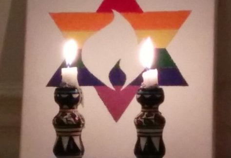 Shabbat candles at city congregation